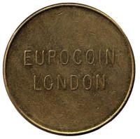 Eurocoin London. Орнамент. Игровой жетон, Великобритания. (Диаметр 22 мм)