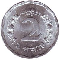 Монета 2 пайса. 1969 год, Пакистан. UNC.