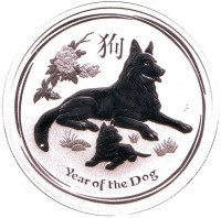 Год собаки. Китайский гороскоп. Монета 50 центов. 2018 год, Австралия.