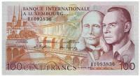 Банкнота 100 франков. 1981 год, Люксембург.