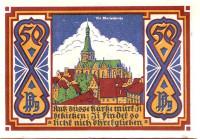 Церковь Святой Марии. Нотгельд Оснабрюка. 50 пфеннигов. 1921 год, Веймарская республика (Германия).