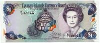 Банкнота 1 доллар. 1996 год, Каймановы острова.