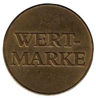 Wert-Marke. Delikomat. Жетон торгового автомата, Чехия.