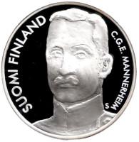 Карл Густав Маннергейм. 300 лет Санкт-Петербургу. Монета 10 евро. 2003 год, Финляндия.