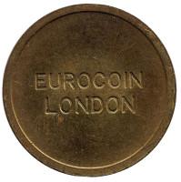Eurocoin London. Игровой жетон, Великобритания. (Диаметр 28 мм)