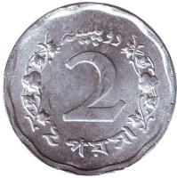 Монета 2 пайса. 1971 год, Пакистан. UNC.