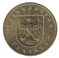 Силезское воеводство. Монета 2 злотых, 2004 год, Польша.