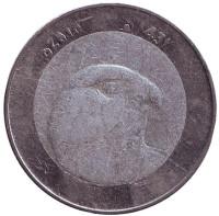 Сокол. Монета 10 динаров. 2010 год, Алжир.