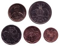 Набор монет Свазиленда (5 шт.). 2011 год, Свазиленд.