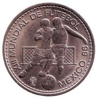 Чемпионат мира по футболу в Мексике. Монета 100 эскудо. 1986 год, Португалия.