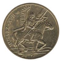Гусары XVII века. Монета 2 злотых, 2009 год, Польша.