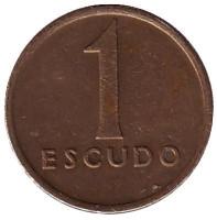 Монета 1 эскудо. 1985 год, Португалия.