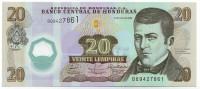Дионисио Эррера. Банкнота 20 лемпир. 2008 год, Гондурас.