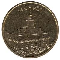 Млава. Монета 2 злотых, 2011 год, Польша.