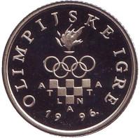 XXVI летние Олимпийские Игры, Атланта 1996. Монета 1 куна. 1996 год, Хорватия. (пруф-лайк)