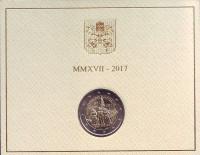 100 лет Фатимским явлениям Девы Марии. Монета 2 евро. 2017 год, Ватикан.
