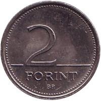 Монета 2 форинта. 1997 год, Венгрия.