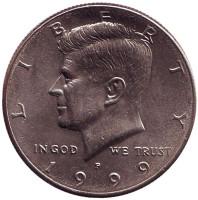 Джон Кеннеди. Монета 50 центов. 1999 год (P), США.