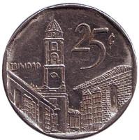 Город-музей Тринидад. Монета 25 сентаво. 2001 год, Куба.