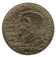 Кшиштоф Комеда. Монета 2 злотых, 2010 год, Польша.