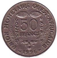 Монета 50 франков. 1996 год, Западные Африканские штаты.
