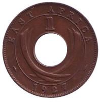 Монета 1 цент. 1927 год, Восточная Африка.