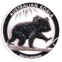 Коала. Монета 1 доллар. 2016 год, Австралия.