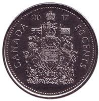 Монета 50 центов. 2017 год, Канада.