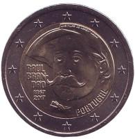 150 лет со дня рождения писателя Раула Брандана. Монета 2 евро. 2017 год, Португалия.