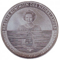 Нидерланды - страна воды. Монета 5 евро. 2010 год, Нидерланды.