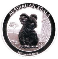 Коала. Монета 1 доллар. 2017 год, Австралия.