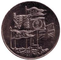 70 лет со дня рождения Королевы Елизаветы II. Монета 5 фунтов. 1996 год, Великобритания.