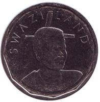 Король Мсавати III. Монета 50 центов. 2011 год, Свазиленд.