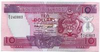 Банкнота 10 долларов. 1986 год, Соломоновы острова.