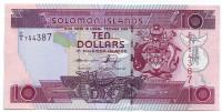 Банкнота 10 долларов. 2005-2009 г., Соломоновы острова. Тип 3.