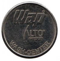 WAP. Wash-center. Жетон автомойки, Германия.