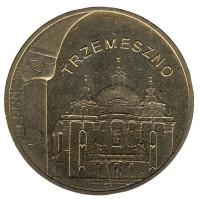 Тшемешно. Монета 2 злотых, 2010 год, Польша.