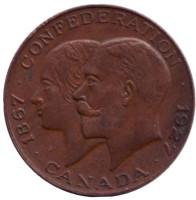 60 лет Конфедерации. Памятная медаль. 1927 год, Канада.