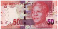 Нельсон Мандела. Банкнота 50 рандов. 2012 год, ЮАР.