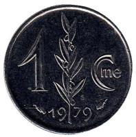 Монета 1 сантим. 1979 год, Монако.