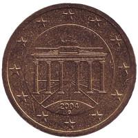 Монета 50 центов. 2004 год (G), Германия.
