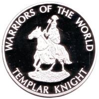 Тамплиер. Воины мира. Монета 10 франков. 2009 год, Конго.