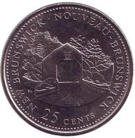 Новый Бронсвик. 125 лет Конфедерации Канады. Монета 25 центов. 1992 год, Канада.