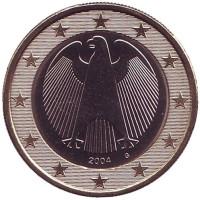 Монета 1 евро. 2004 год (G), Германия.