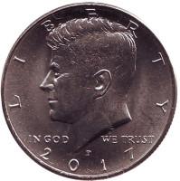 Джон Кеннеди. Монета 1/2 доллара (50 центов), 2017 год (P), США.