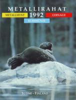 Тюлень. Набор монет Финляндии в буклете (5 шт). 1992 год, Финляндия.