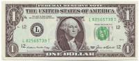 Банкнота 1 доллар. 1985 год, США.