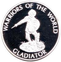 Гладиатор. Воины мира. Монета 10 франков. 2009 год, Конго.