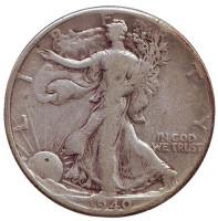 Шагающая свобода. Монета 50 центов. 1940 год, США.