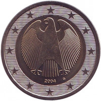 Монета 2 евро. 2004 год (G), Германия.